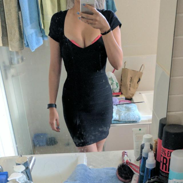 Black Bandage Dress Can Fit Size 6-8
