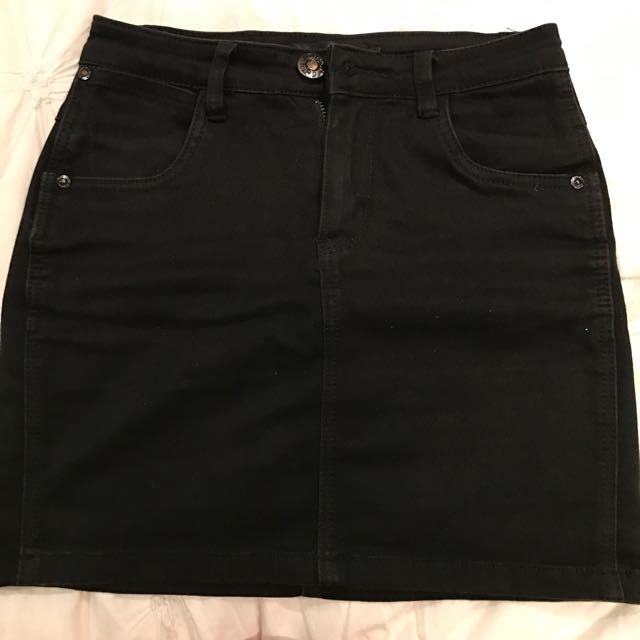 Black Denim Skirt Size 8