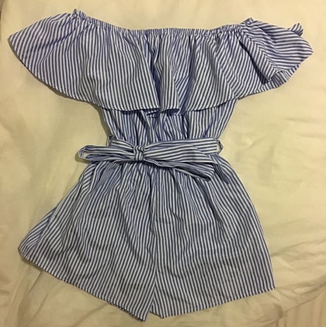 Blue & White Playsuit