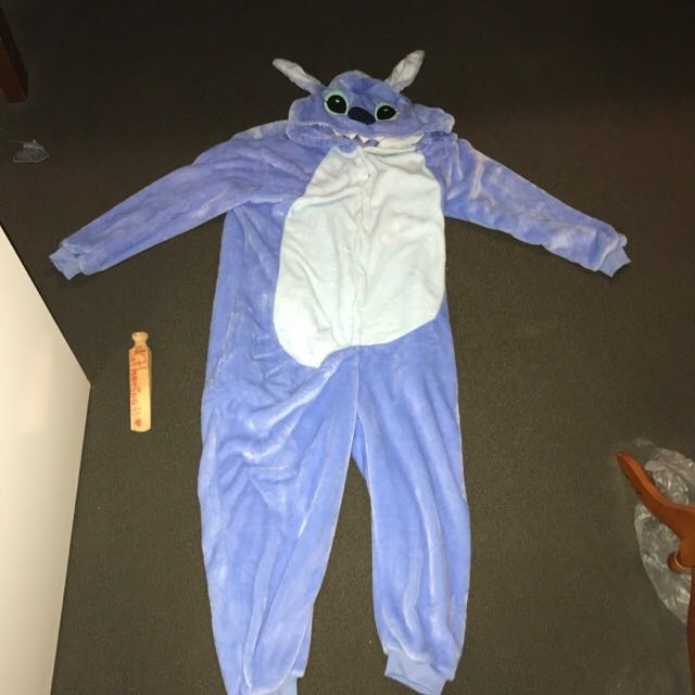Blue Stitch Onesie