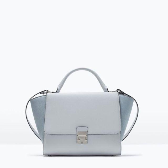 355e209aa84 BNWT Zara Combined Buckled City Bag in Blue, Women's Fashion, Bags ...
