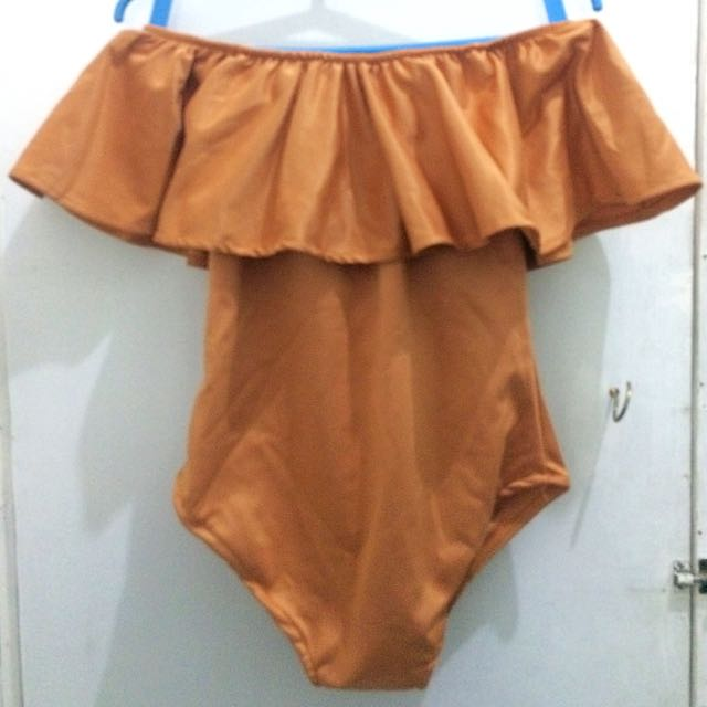 Bodysuit (Gold) With Skirt