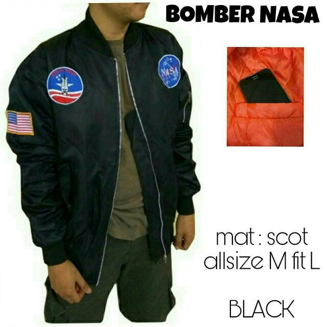 Bomber Nasa Black