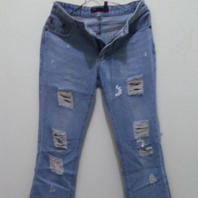 Celana Riped Jeans
