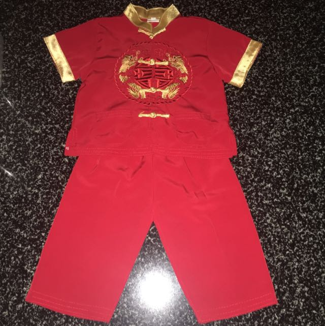 CNY Cheongsam For Boys 1-2 Years Old