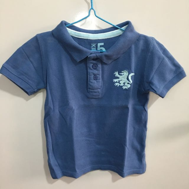 Cotton On Kids Polo Shirt Blue