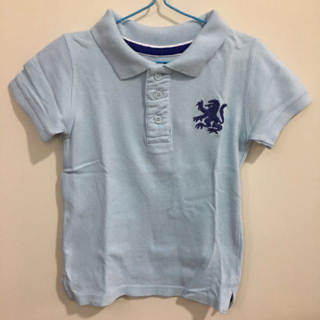 Cotton On Kids Polo Shirt Light Blue