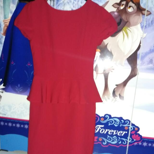 Dress Merah Eksekutif Uk.S