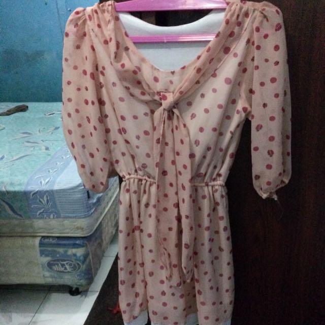 Dress Peach Motif