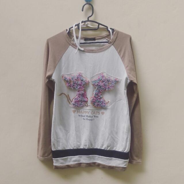 Kaos Raglan Embroidery