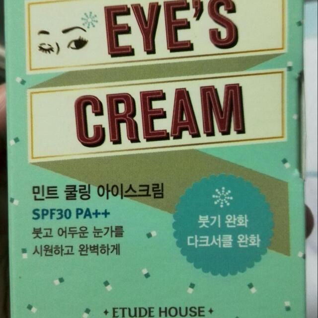 Etude House Mint Cooling Eye's Cream SPF30
