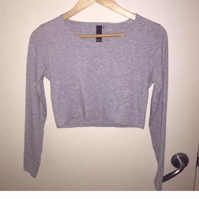 Factorie long sleeve crop top