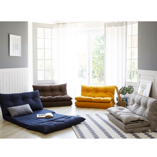Floor Sofabed Colours Brown Grey Blue Gold Brand New