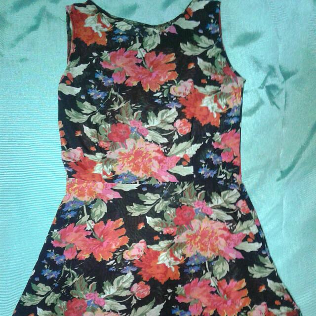 Floral Vintage Dress - Navy Blue (REPRICED)