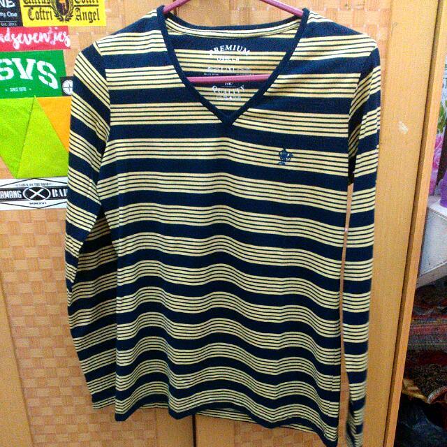 FRee Ong ❗Osella V Neck Long Tshirt