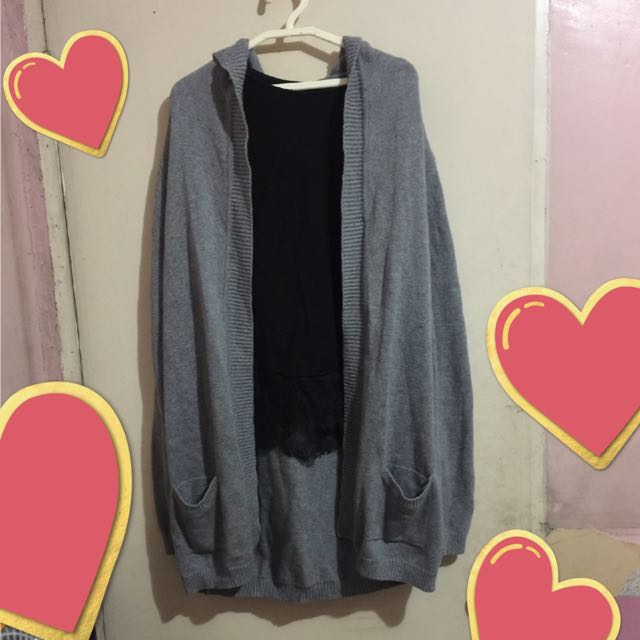 Gap Long Cardigan/Sweater with Hood