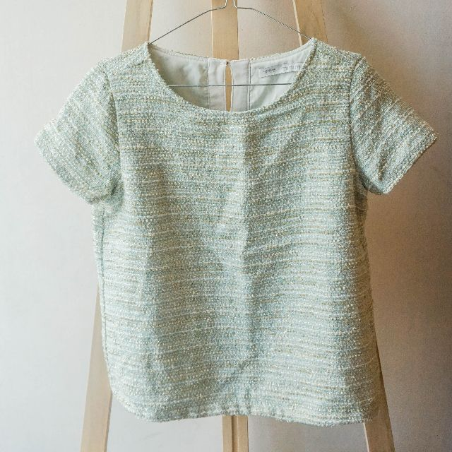 green mint blouse