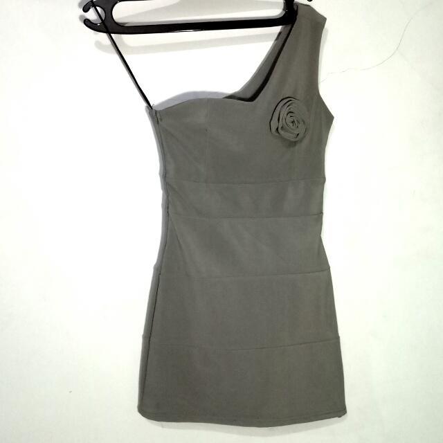 Grey Rose Dress