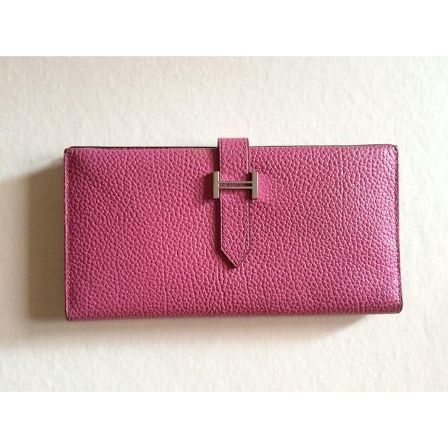 Hermes Long Wallet In Pink