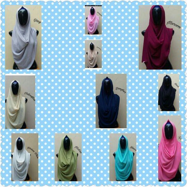 Hijab Shakila Instan Polos