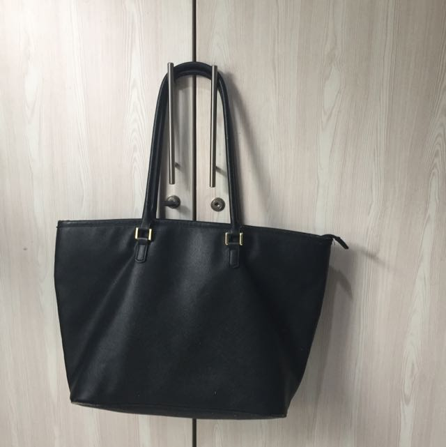 H&M Black Large Totebag