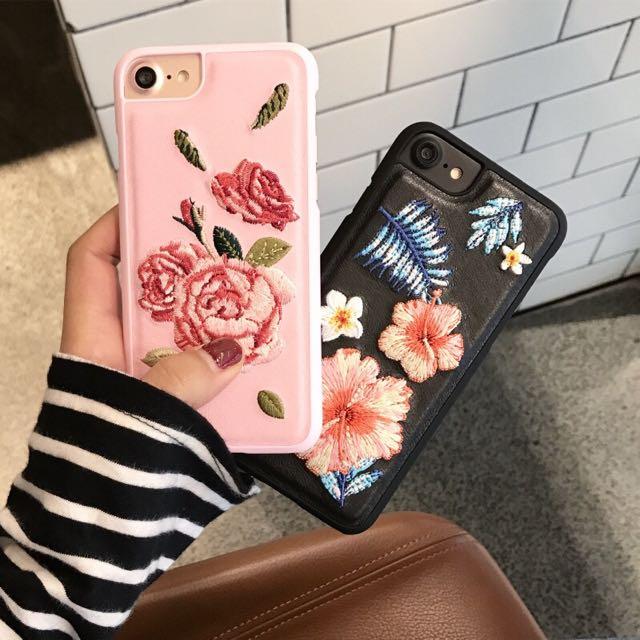 Iphone6.7刺繡手機殼