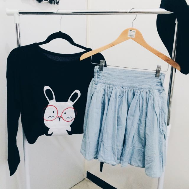 Jeans miniskirt