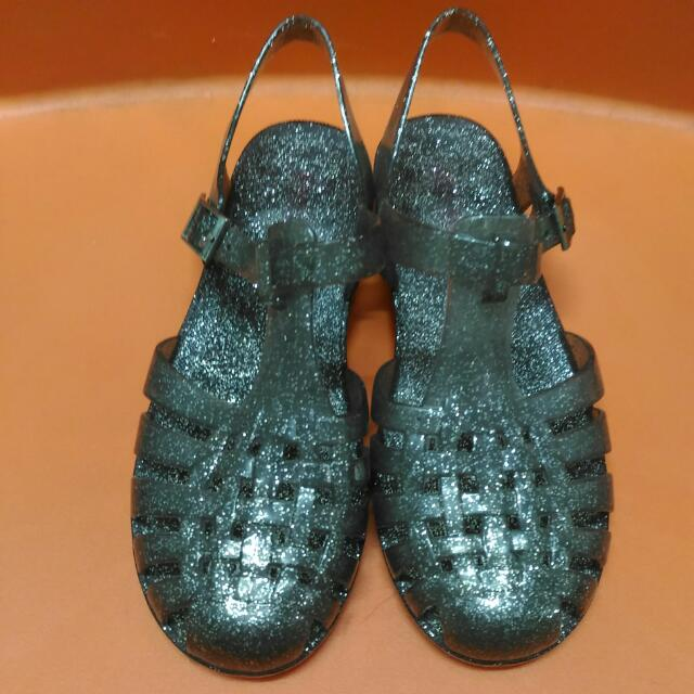Jelly Shoes Glitter Black