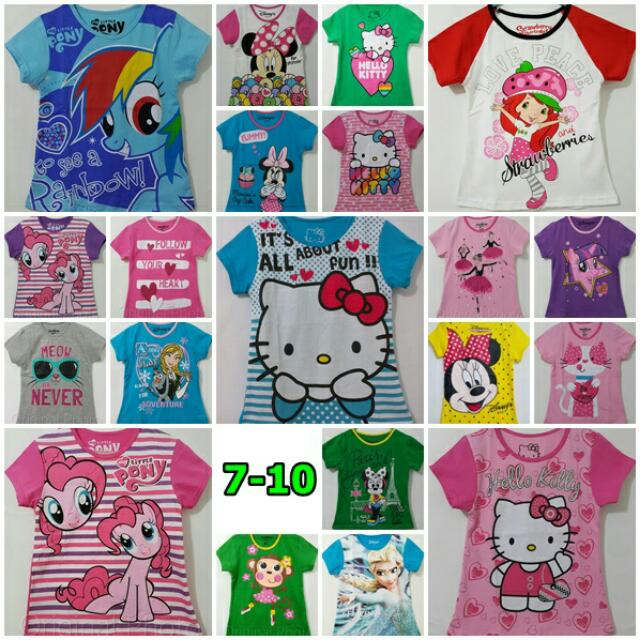 Kaos Lengan Pendek Disney 7-10th Girl