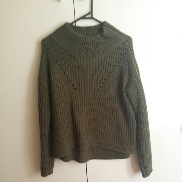Khaki/green Knit