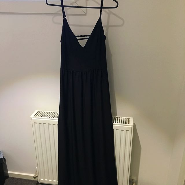 Kookai 'sunsnake' Maxi Dress Black