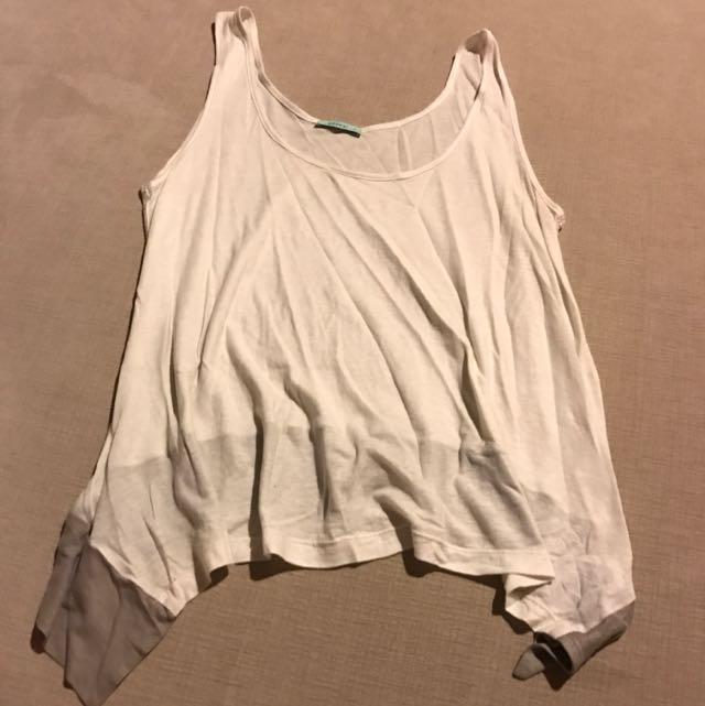 Kookai White Singlet Size 1