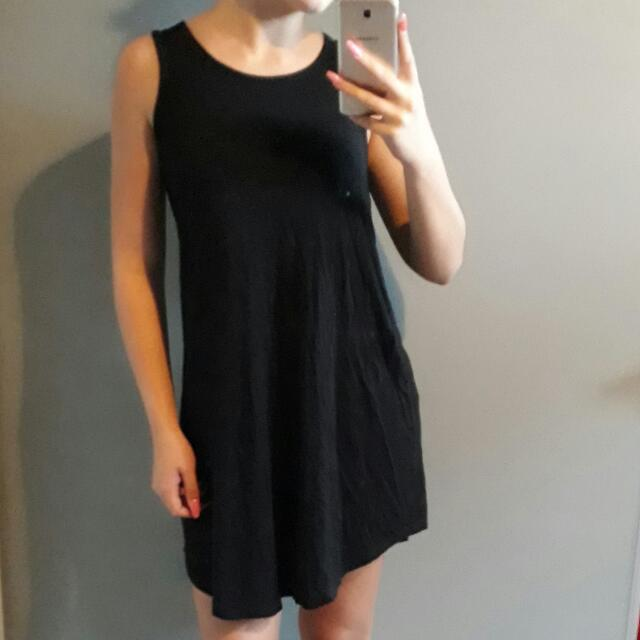 Mid Thigh Black Dress