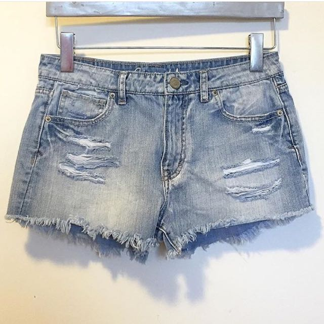 Midrise Distressed Shorts