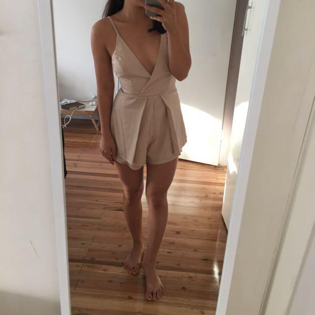 Nude Playsuit | Size 6