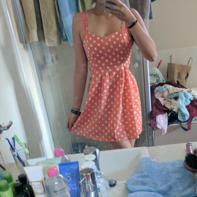 Orange Polka Dot - Dotti Size 8 Summer Dress