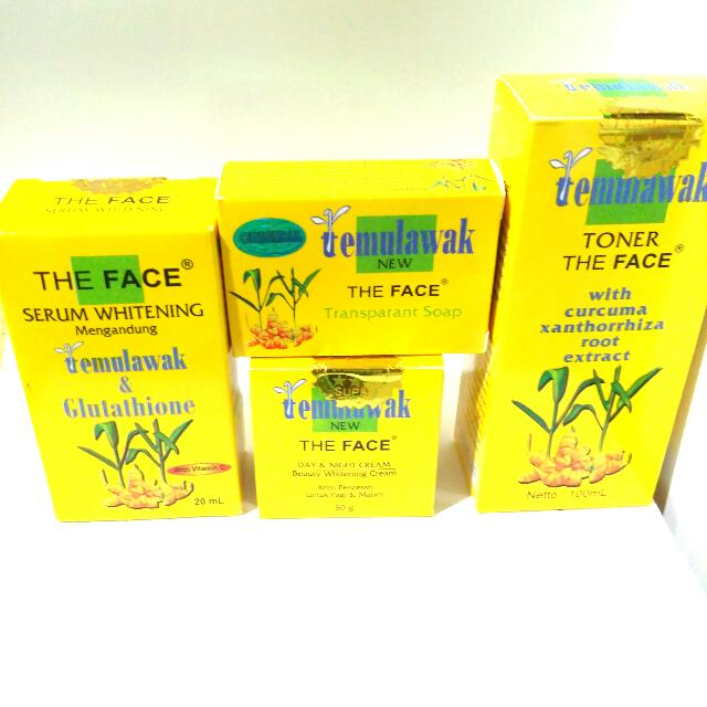 Paket Komplit Temulawak The Face 100% Original!!!