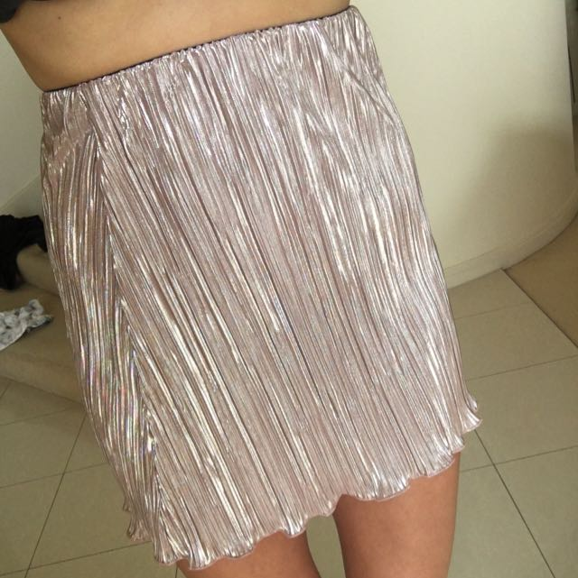 PINK METALLIC NEON HART SKIRT