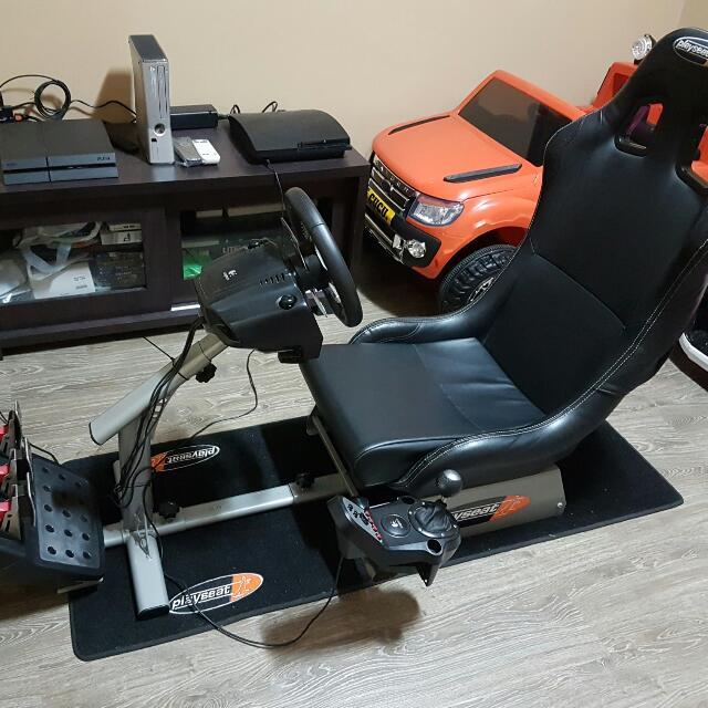 Playseat + Carpet + G27 Steering Wheel With Shifter And Pedals