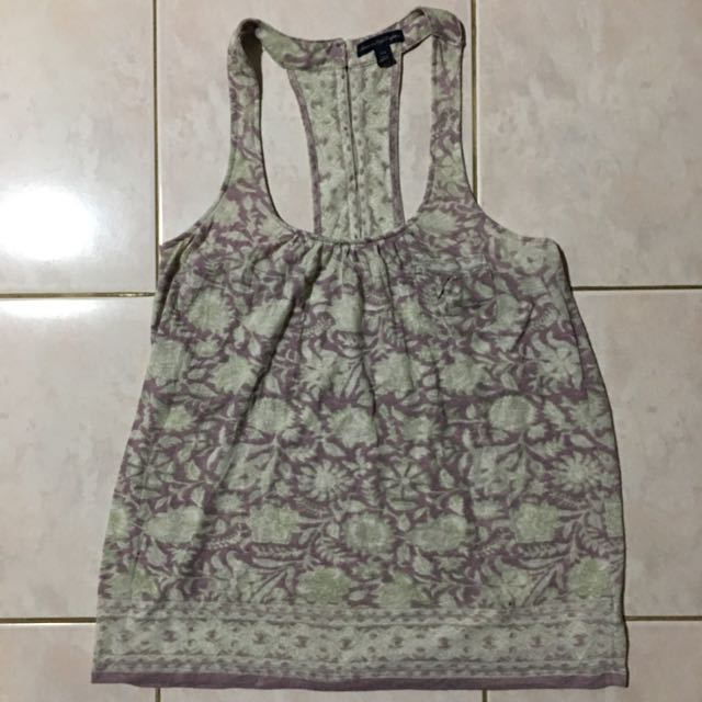 Preloved Authentic American Outfitters Print Sexy Back Blouse