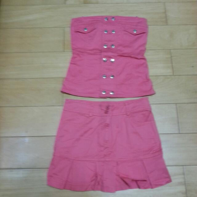 R2品牌桃紅色套裝