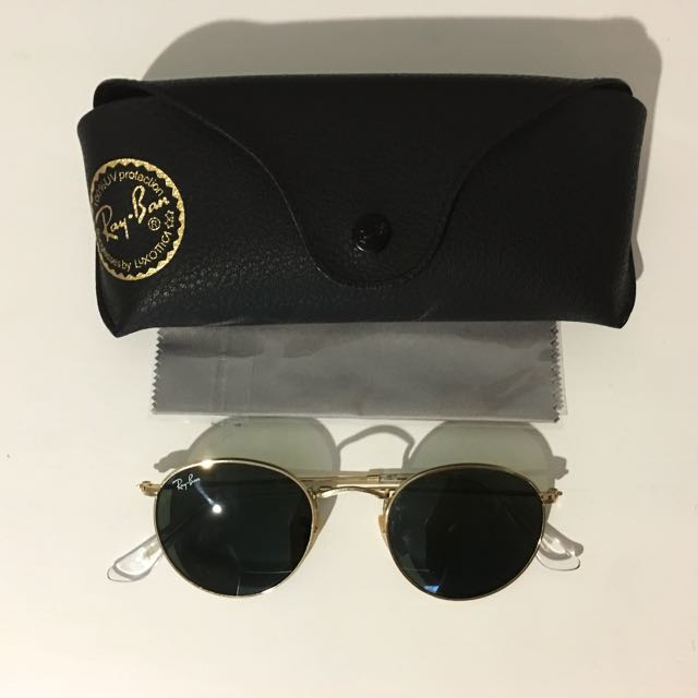 Ray Ban Round Gold Sunglasses