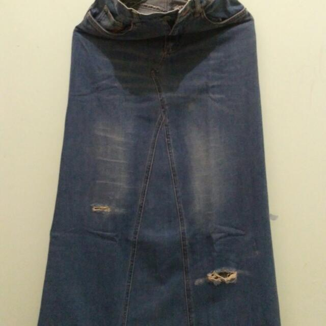 Riped Jeans Rok