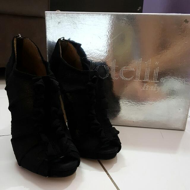 Rotelli Black Angkle Boots