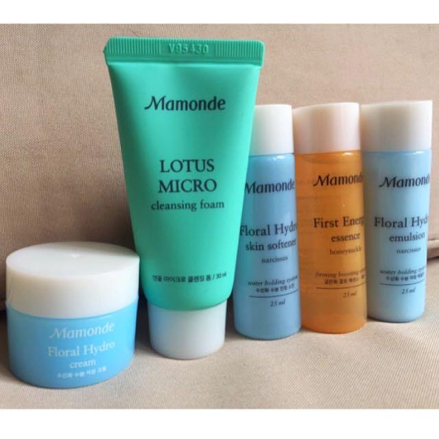 SALE!! ❤ Mamonde facial Skincare set (5pcs)