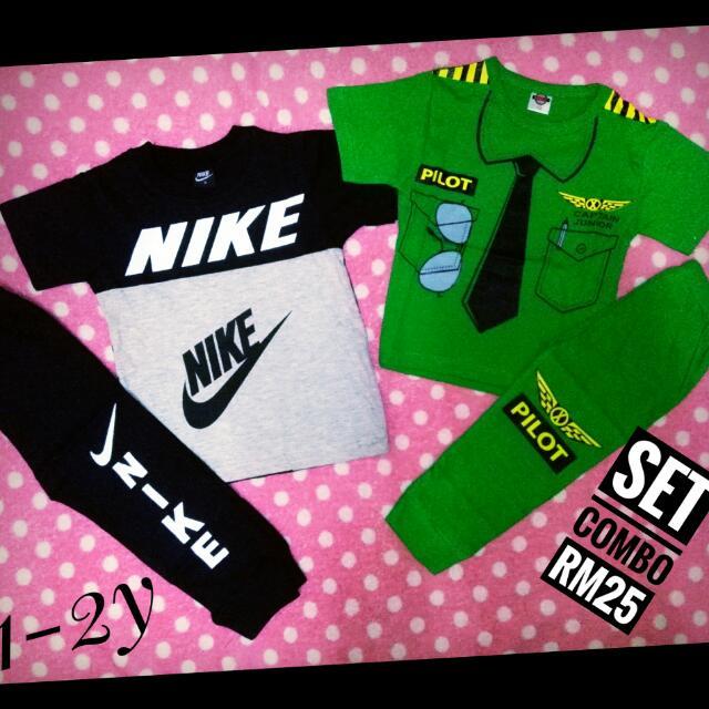 49d5a68fd479a4 Set Combo Pyjamas Nike Dan Set Pilot Kanak Kanak