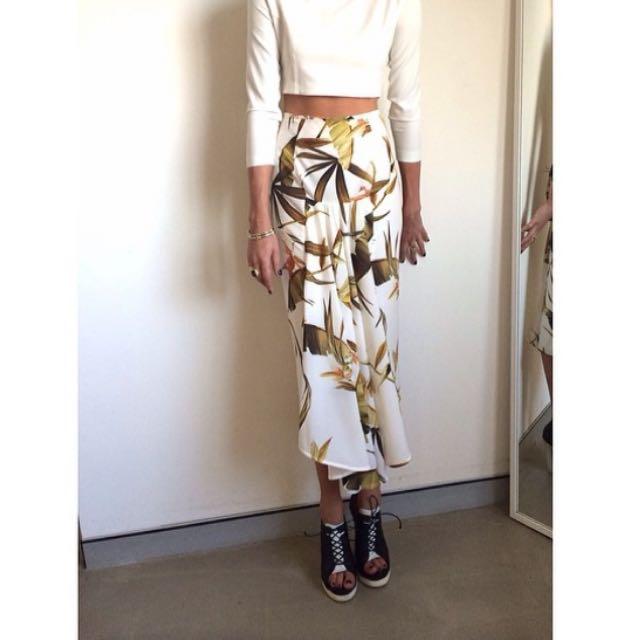 Shona Joy The Rapture Godet Midi Skirt