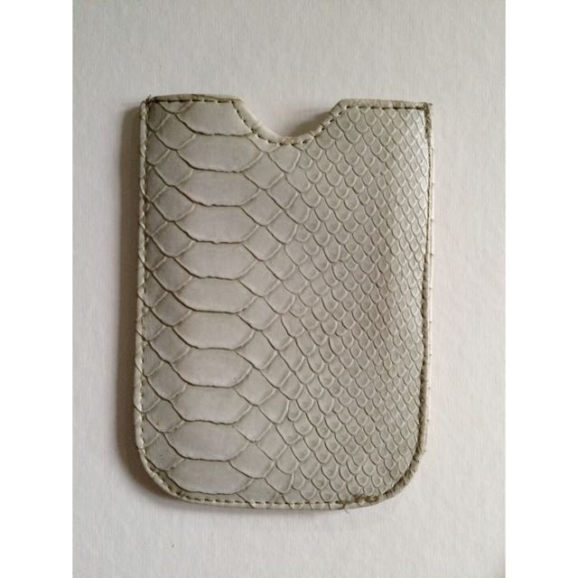 Slot Leather Case In Dirty White for Iphone Or Etc