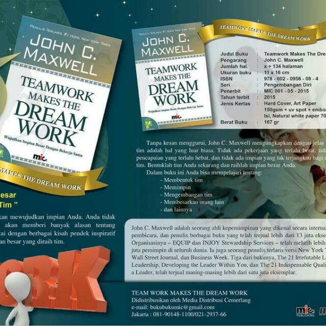 Teamwork Makes Dreamwork : John C.Maxwell