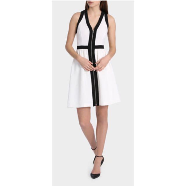 Tokito White And Black Dress